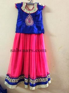 Simple Skirt in Blue and Pink | Indian Dresses