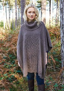 How to knit the Bowland Poncho by Martin Storey using Rowan Yarns Moordale, an all-British Bluefaced Leicester wool and Alpaca yarn. Free Crochet, Knit Crochet, Rowan Yarn, Ladies Poncho, Dk Weight Yarn, Knitted Poncho, Different Fabrics, Dress Patterns, Pattern Dress