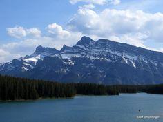 Mt. Rundle viewed across Two Jack Lake, Banff National Park   TravelGumbo