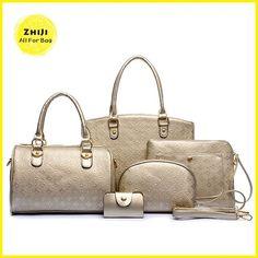 7ea96f96d2 Women Bags Brand Ladies Handbags Europe Woman Tote Bag Women s Pu Leather  Wallet Hand Bag Set