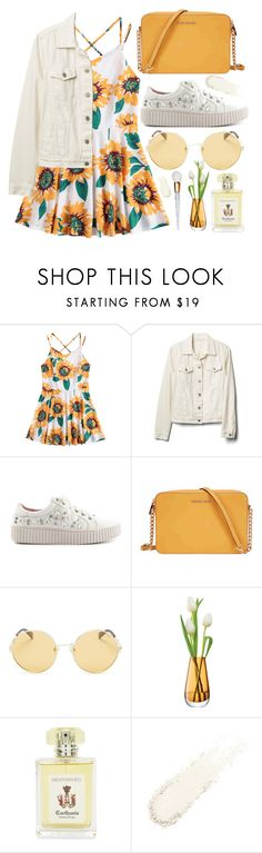"""""""style"""" by lena-volodivchyk ❤ liked on Polyvore featuring Gap, Lauren Lorraine, Michael Kors, Polaroid, LSA International and Carthusia"""