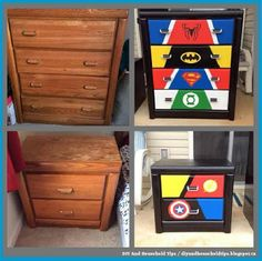 DIY And Household Tips: DIY Super Hero Themed Dressers