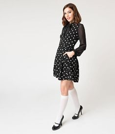 Black & White Polka