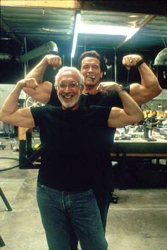 RIP Stan Winston. Terminator with the Creator. Arnie with Stan