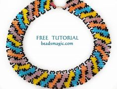Free pattern for necklace Circus‎