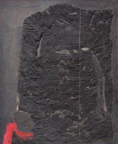 Teresa Pągowska - Obraz czarny I, 1960, olej na płótnie, 100 x 81 cm
