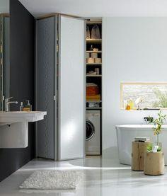 Inspiration: Falttür versteckt Waschmaschine & Co - Bild 4 - [SCHÖNER WOHNEN]