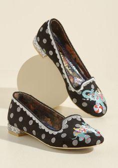 Low Heel Shoes B Gold Slip On Flat Irregular Choice Kissy fishy