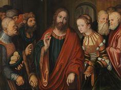Christ and the Adulteress / Cristo y la adúltera // circa 1520 // Lucas Cranach the Elder // Alte Pinakothek