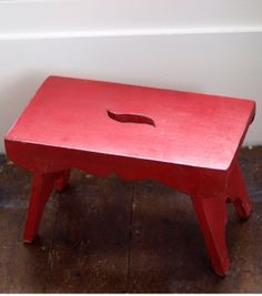 Red Wooden Stool - from drift LIVING & Spun milking stool made from high grade steel and recycled wood ... islam-shia.org