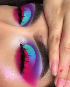 Bringing some color onto your feed recreation from my beautiful friend Using carnival palette Makeup Eye Looks, Beautiful Eye Makeup, Cute Makeup, Glam Makeup, Pretty Makeup, Makeup Inspo, Eyeshadow Makeup, Makeup Inspiration, Fx Makeup