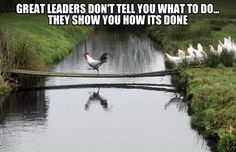 Great Leaders don't tell you what to do... they show you how it's done