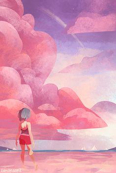 Cotton Candy Sky By Zandraart