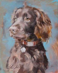 "Daily Paintworks - ""Nash"" - Original Fine Art for Sale - © Clair Hartmann"