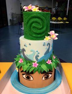 Moana Moana Themed Party, Moana Birthday Party, Moana Party, Luau Birthday, Birthday Cake Girls, Mohana Cake, Bug Cake, Cupcake Cakes, Girly Cakes