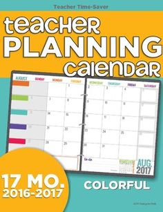 17 month 2016-2017 Planning Calendar Template (August 2016 - December 2017) to help organize and add style to your planning system.This is a two-page monthly calendar that lays flat as a two-page spread. It's a great amount of room to write and you'll love being able to plan out your entire year and add things as the year continues.