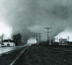 Double Tornado 4-11-65 - Palm Sunday - Elkhart, IN  ( Actually Dunlap/ MIdway ) Was a terrible natural tragedy. That missed  Elkhart.  Tragic but would have been less tragic than the un-natural disaster the 70's and 80's reeked on Elkhart.