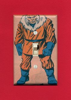 Super Villain Light Switch Plate  Red Ghost by IntergalacticDesign, $12.95 (hahahaha I almost peed )
