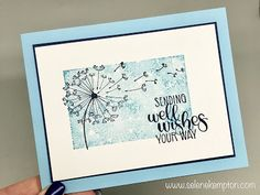 Create with Selene: Stampin' Up Dandelion Wishes clean and simple card.