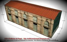This is the Progreso Building more one nice paper model of the Ourense Series, in several scales, created by Spanish designers Mónica and Anibal, from Edifícios De Papel website