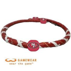 NFL San Francisco 49ers Classic Spiral Football Necklace