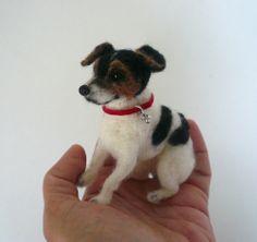 Needlefelted custom dog miniature from photos