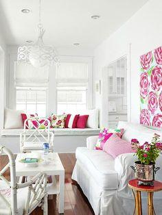 Celebrate Spring: 7 Simple Ways To Welcome Spring Into Your Home #springdecor #decorating #interiordesignideas #diydecor #pillows #interiordesign #wreaths #pottedplants