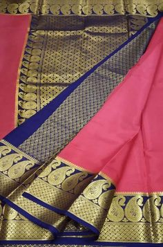 Pink Handloom Mysore Crepe ... Crepe Silk Sarees, Silk Crepe, Pink Fabric, Woven Fabric, Mysore Silk Saree, Lady, Clothes, Color, Outfits