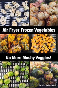 Frozen Butternut Squash Recipe, Frozen Cauliflower Recipes, Veggie Recipes Healthy, Frozen Broccoli Recipes, Vegetarian Recipes, Air Fryer Oven Recipes, Air Frier Recipes, Air Fryer Dinner Recipes, Roasting Frozen Vegetables