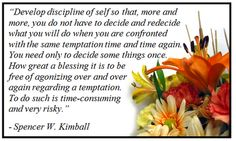 Emma's Place: Personal Purity through Self-discipline...lesson 32