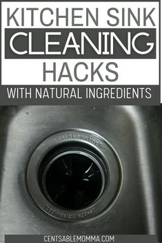 Does it seem like your kitchen sink is always dirty? Check out these hacks for how to clean {and polish} a stainless steel sink making it shiny again using natural ingredients that you already have around the house. Stainless Steel Sinks, Spring Cleaning, Kitchen Sink, Cleaning Hacks, Polish, Natural, Check, House, Vitreous Enamel