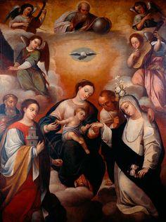 Desposorios místicos de Santa Catalina de Siena - Gregorio Vásquez de Arce y Ceballos