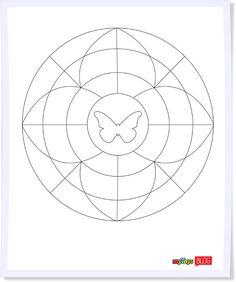 Zum kostenlosen Download: Unser kleines Mandala zum Ausmalen und Aufhängen.