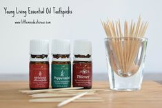 Make Young Living Essential Oil Toothpicks to freshen breath. Can be used as an alternative to gum. They are so inexpensive and easy to make!