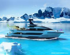 50m Arctic Sun Explorer Yacht Concept