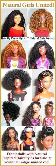 Barbie dolls with Naturally Beautiful Hair: No Heat Curls from 'My Invisible Chyrsalis'! Pelo Natural, Natural Hair Care, Natural Hair Styles, Segura Essa Marimba, Curls No Heat, Black Barbie, My Black Is Beautiful, Naturally Beautiful, Girl Hairstyles