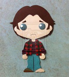 I LOST MY SHOE - Sam Winchester papertoy - by ~IaIaCom on deviantART