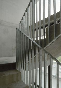 Andreas Martin-Löf Arkitekter is an award winning architectural practice based in Stockholm, Sweden. Diy Staircase Railing, Balcony Railing Design, Stair Handrail, Staircase Design, Staircases, Interior Stairs, Interior Architecture, Wrought Iron Handrail, Stair Detail
