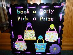 Book a Party Pick a Prize Board