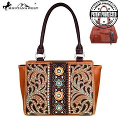 Montana West Concho Collection Concealed Handgun Trapezoid Tote   We have new concealed carry bags! Check these out! #newarrivals #concealedcarrypurses #westernpurses #concealedcarryhandbags #westernsoul