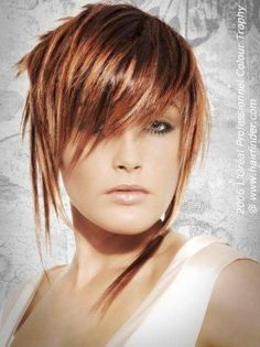 Short hair with a graduated neck and spiky strands in front on imgfave