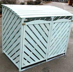 Triple Garden Dustbin Bin Store Storage Screen Tidy Hide Plastic Rattan Effect