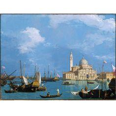 Canaletto (Giovanni Antonio Canal) • San Giorgio Maggiore: from the Bacino di San Marco, about 1726-30