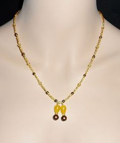 Czech Crystal and Rare South American Topaz Gemstone Necklace Artisan