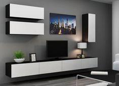 Как выбрать подвесную тумбу под телевизор - виды и устройство моделей: крепления, размеры, оснащение. Что необходимо учесть при выборе. Фото.