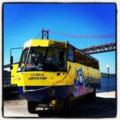 O Passeio da D. Sardinha e do Sr. Bacalhau: #Lisboa já tem autocarro Anfíbio a navegar pelo Rio Tejo