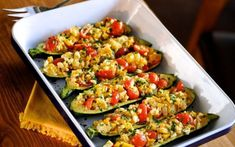 Recipe for Mediterranean Stuffed Zucchini. Zucchini stuffed with savory onion, yellow squash, ripe tomatoes and crumbled feta cheese. Makes for an impressive vegetable side dish, or two servings make a healthy vegetable entree. Vegetable Entrees, Vegetable Side Dishes, Vegetable Recipes, Vegetarian Recipes, Cooking Recipes, Healthy Recipes, Entree Recipes, Dinner Recipes, Get Thin