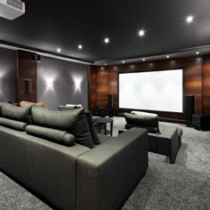 black grey home theater
