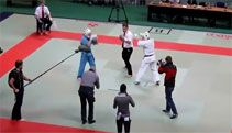Karate Referee Freaks Out On Combatants