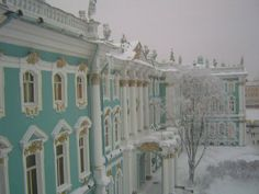 Winter Palace (Зи́мний дворе́ц) in St. Petersburg, Russia